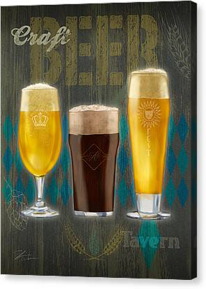 Craft Beer Canvas Print by Shari Warren