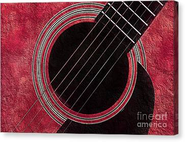 Cranberry Guitar Canvas Print by Andee Design