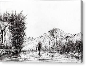 Crans  Switzerland Canvas Print by Vincent Alexander Booth