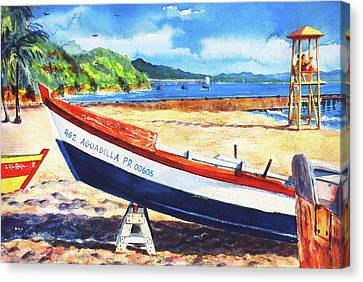 Crash Boat Beach Canvas Print by Estela Robles