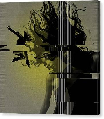 Crash Canvas Print by Naxart Studio