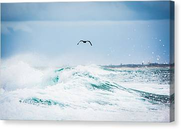 Crashing Waves Canvas Print by Parker Cunningham