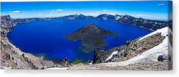 Crater Lake National Park Panoramic Canvas Print by Scott McGuire