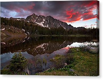 Crater Lake Sunset Canvas Print by Guy Schmickle