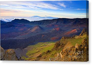 Craters Of Paradise Canvas Print by Mike  Dawson