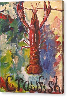 Crawfish Confetti Canvas Print by Candace Nalepa