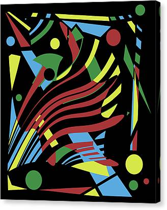 Crazy Abstraction Canvas Print by Valentina Hramov