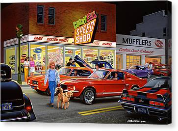Crazy Eds Canvas Print by Bruce Kaiser