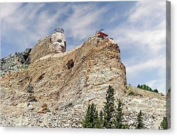Crazy Horse Memorial Monument South Dakota  -  Chm001 Canvas Print by Frank J Benz