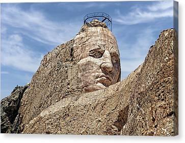 Crazy Horse Memorial Monument South Dakota  -  Chm002 Canvas Print by Frank J Benz