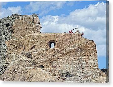 Crazy Horse Memorial Monument South Dakota  -  Chm003 Canvas Print by Frank J Benz