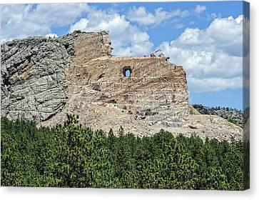 Crazy Horse Memorial Monument South Dakota  -  Chm004 Canvas Print by Frank J Benz