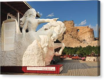Crazy Horse Monument Canvas Print by Edwin Verin