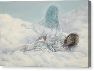 Creating A Body With Clouds Canvas Print by Lucie Bilodeau