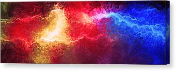Creation - Abstract Art Canvas Print by Jaison Cianelli