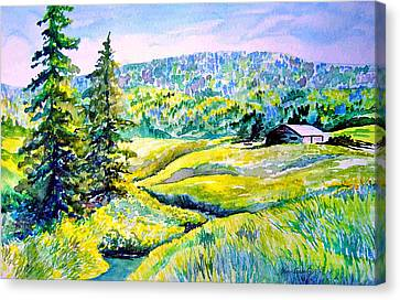 Creek To The Cabin Canvas Print by Joanne Smoley