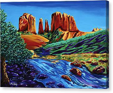 Creekside Cathedral Canvas Print by Clark Sheppard
