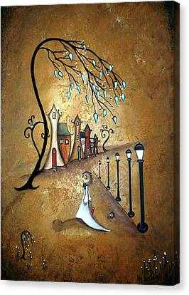 Creeper Village Canvas Print by Charlene Zatloukal