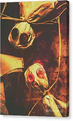Creepy Halloween Scarecrow Dolls Canvas Print by Jorgo Photography - Wall Art Gallery