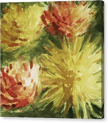 Cremon Mums Canvas Print by Beverly Brown