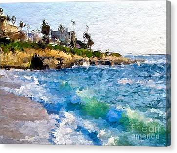Crescent Abstract Beach Canvas Print by Anthony Fishburne