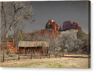 Crescent Moon Ranch Canvas Print by Donna Kennedy