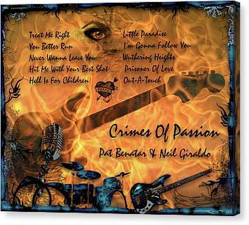 Crimes Of Passion Canvas Print by Michael Damiani