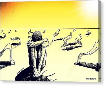 Crisis Of Leader Canvas Print by Paulo Zerbato