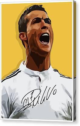 Cristiano Ronaldo Cr7 Canvas Print by Semih Yurdabak