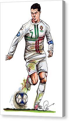 Cristiano Ronaldo Canvas Print by Dave Olsen