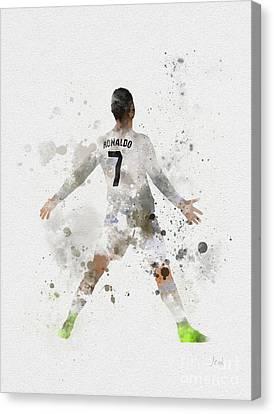 Cristiano Ronaldo Canvas Print by Rebecca Jenkins