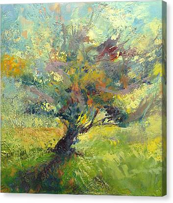 Crooked Tree Canvas Print by Barbara Hranilovich