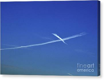 Cross In The Sky Canvas Print by Clayton Bruster