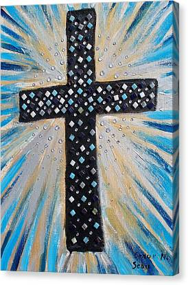 Cross Of The Dew Filled Morning Canvas Print by Seaux-N-Seau Soileau