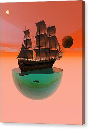 Crossing The Expanse Canvas Print by Claude McCoy