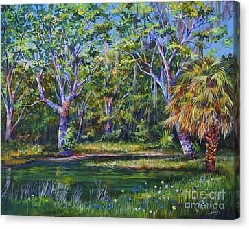 Croton Pond Canvas Print by AnnaJo Vahle