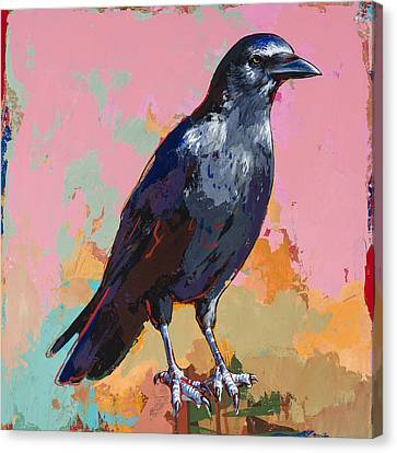 Crow #3 Canvas Print by David Palmer