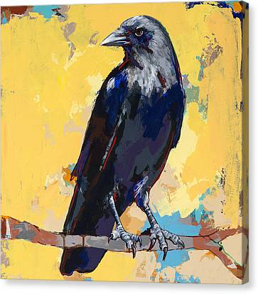 Crow #4 Canvas Print by David Palmer