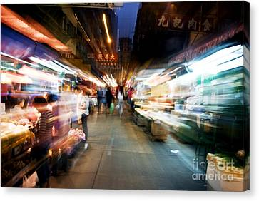Crowds Moving Through Jordan Canvas Print by Ray Laskowitz - Printscapes