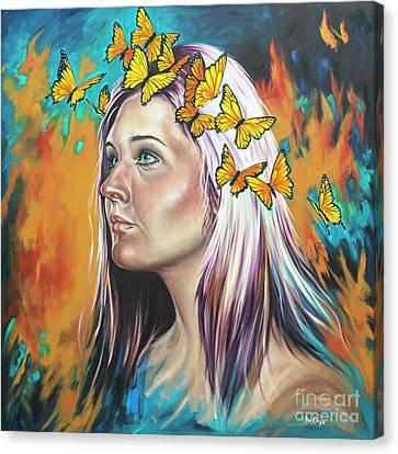 Crown Of Transformation Canvas Print by Ilse Kleyn