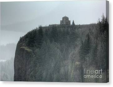 Crown Point Vista House Columbia River Gorge Oregon Canvas Print by Dustin K Ryan