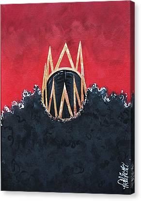 Crowned Royal Canvas Print by Aliya Michelle