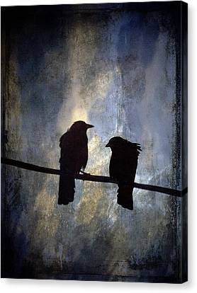 Crows And Sky Canvas Print by Carol Leigh