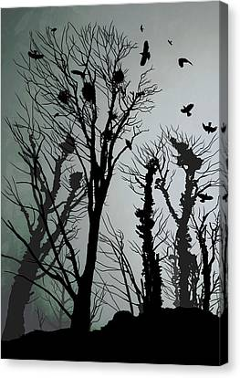 Crows Roost 1 Canvas Print by Philip Openshaw