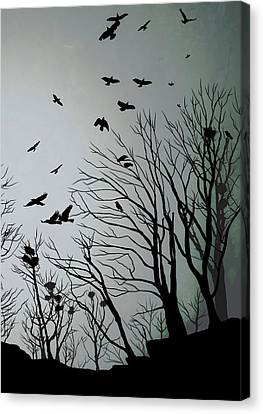 Crows Roost 2 Canvas Print by Philip Openshaw