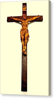 Crucifix Canvas Print by Henryk Gorecki