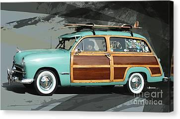 Cruising Woody Canvas Print by Uli Gonzalez