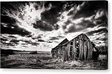 Crumbling Prairie Canvas Print by Ian MacDonald