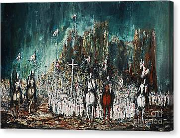Marching Out Canvas Print by Kaye Miller-Dewing