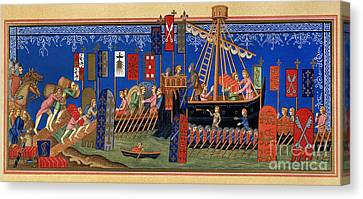 Crusades 14th Century Canvas Print by Granger